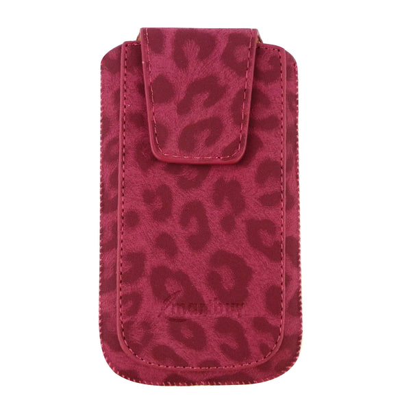 Universal Phone Pouch - Pink Leopard Classic