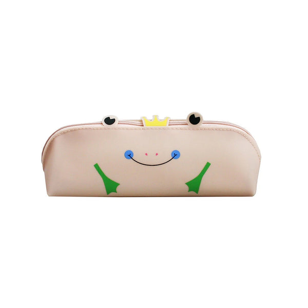 Frog Pencil Case - Peach