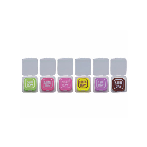 Multicoloured Weekdays Eraser - Set Of 7