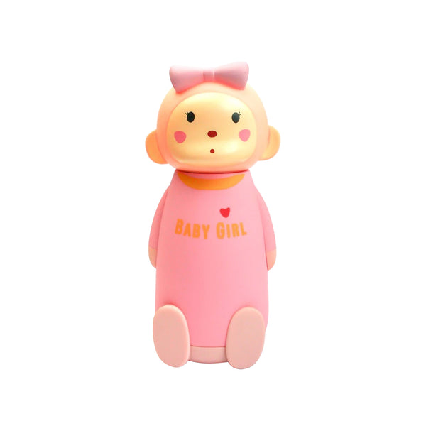 Bow Monkey Flask - Pink