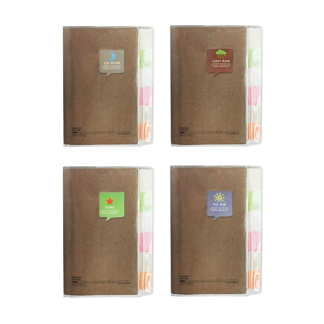 A7 Nature Notebook - Set of 4 - EMARTBUY