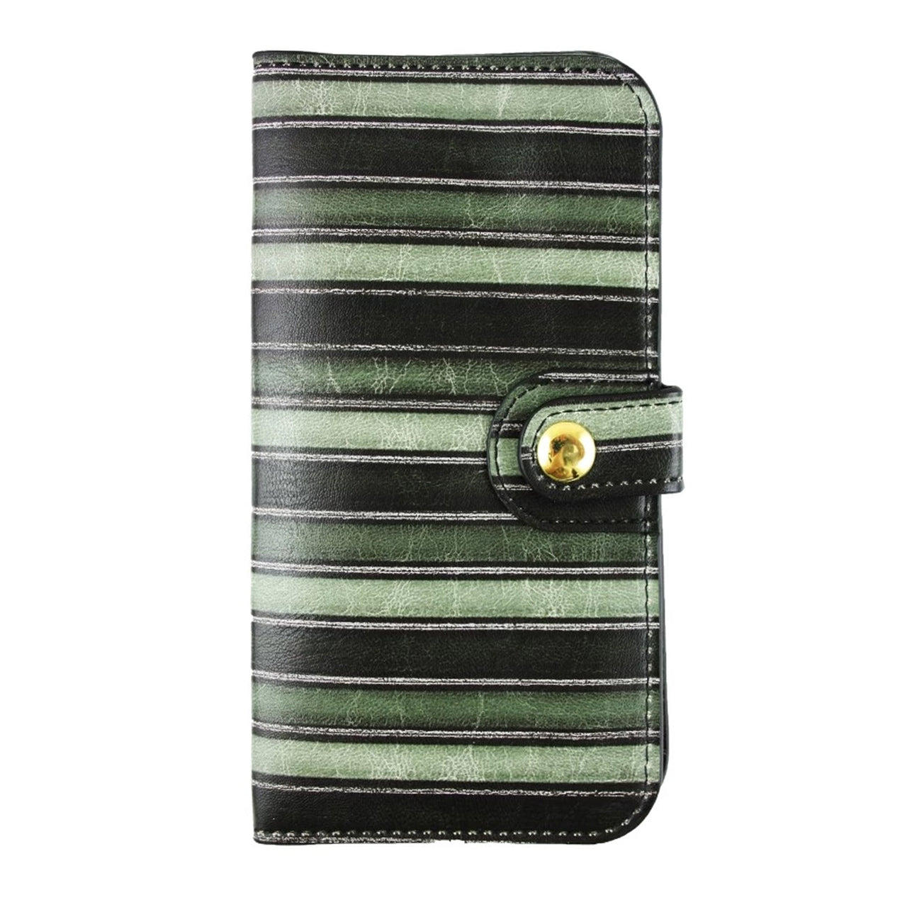 Magnetic Slim Wallet - Green Stripes