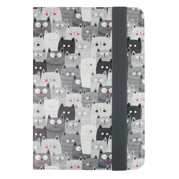 Universal Tablet Case - Grey Cats