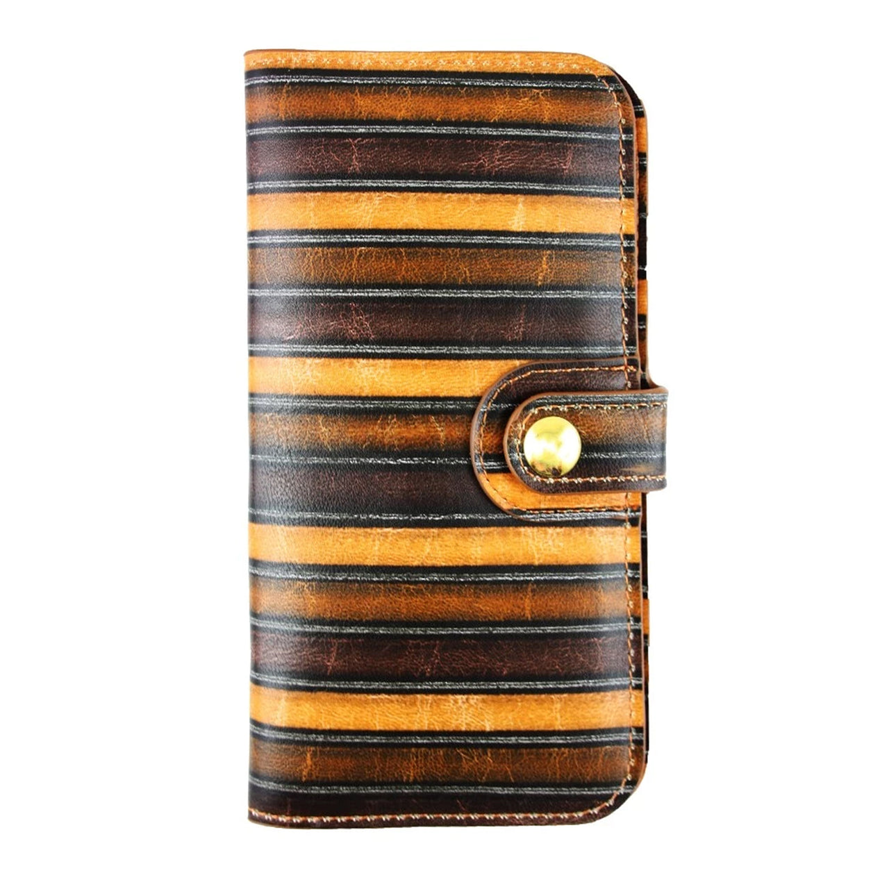 Magnetic Slim Wallet - Brown Stripes