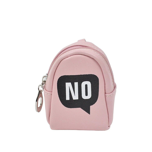 NO Peach Key ring Chain Holder Coin Purse