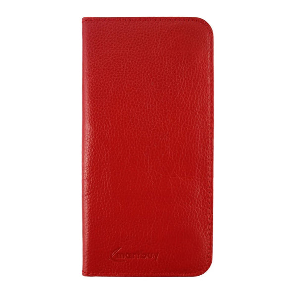 Genuine Leather Magnetic Slim Wallet - Red
