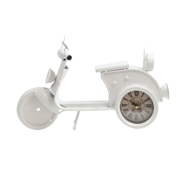 Vintage White Scooter Clock