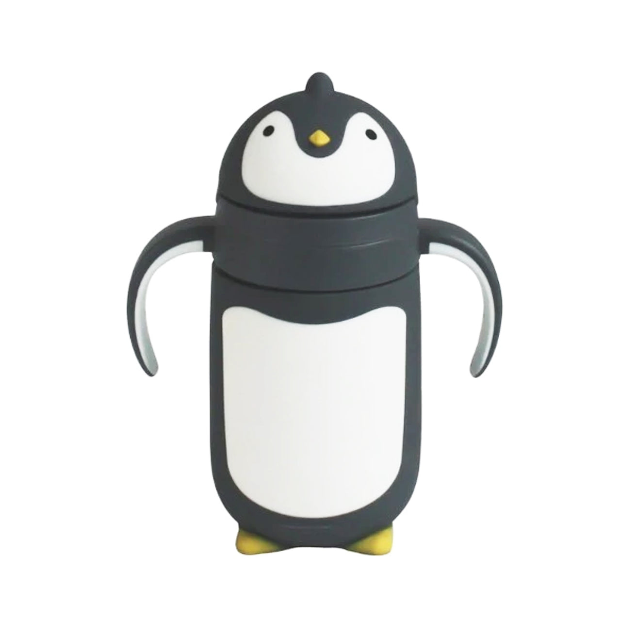 Penguin Sipper Flask - Grey