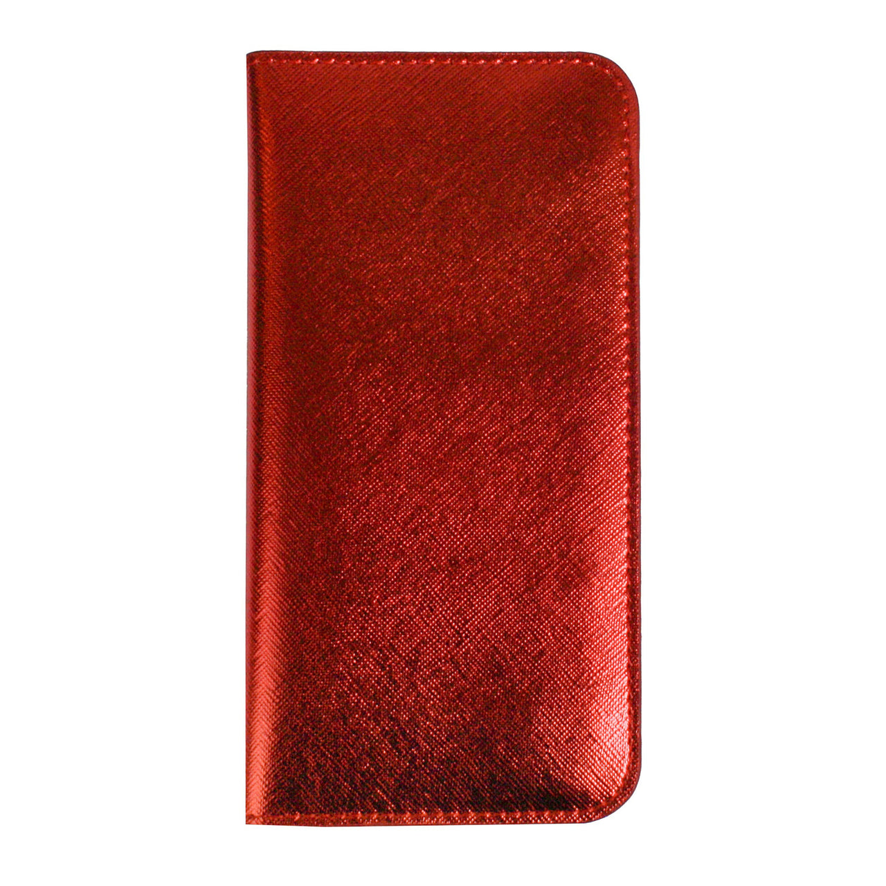 Magnetic Slim Wallet - Metallic Red