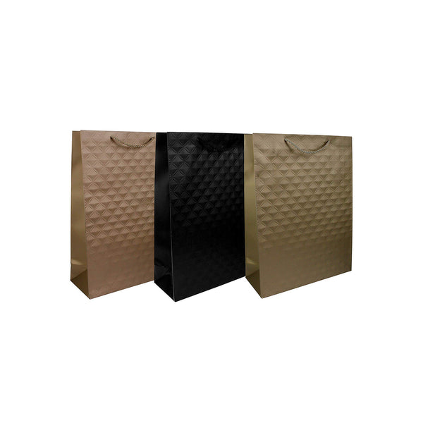 Embossed Gift Bag - Set of 3