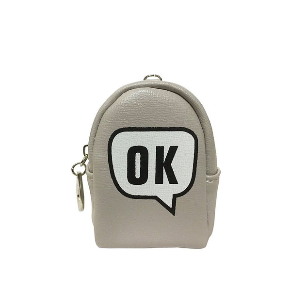 OK Light Grey Key ring Chain Holder Coin Purse