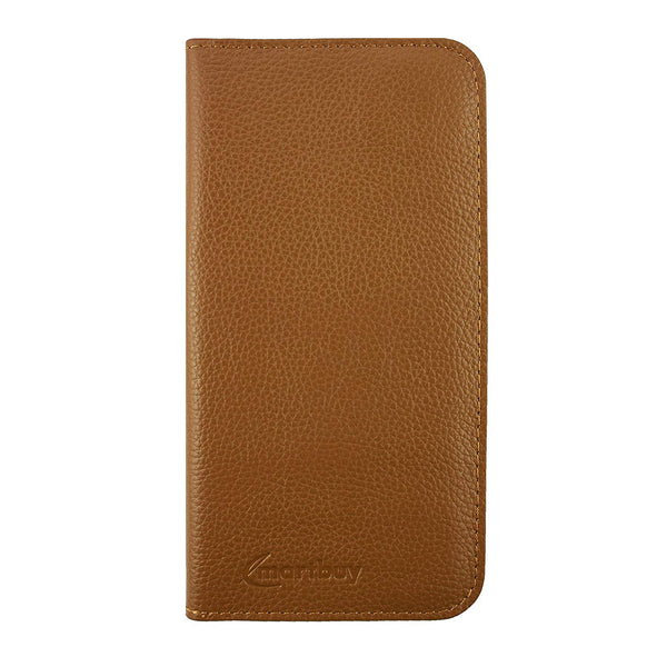 Genuine Leather Magnetic Slim Wallet - Tan