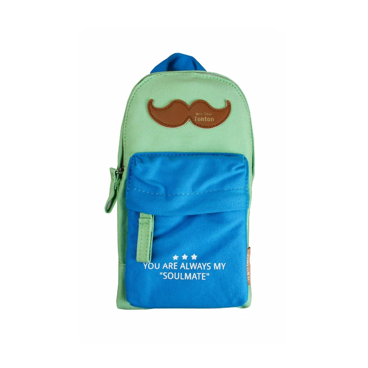 Backpack Pencil Case - Blue Green - EMARTBUY