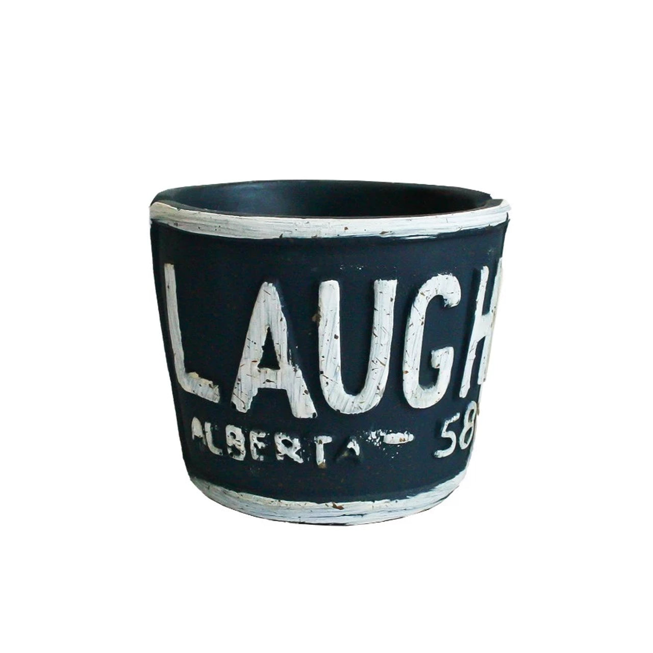 Laugh Planter - Dark Blue