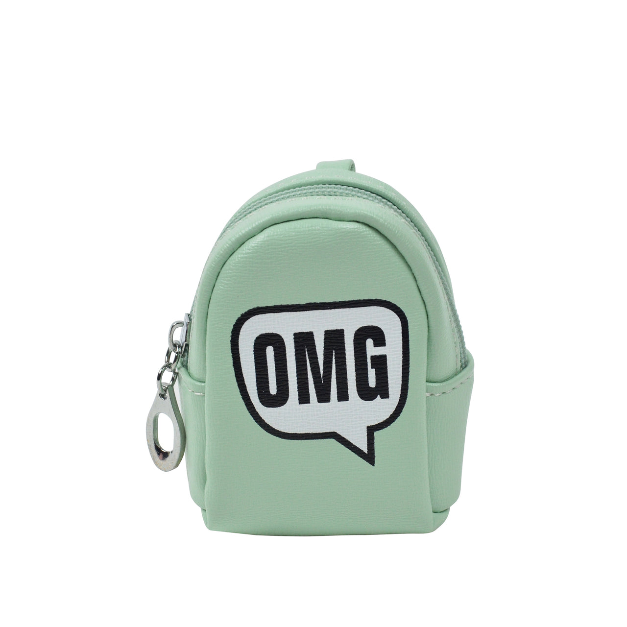 OMG Light Green Key ring Chain Holder Coin Purse