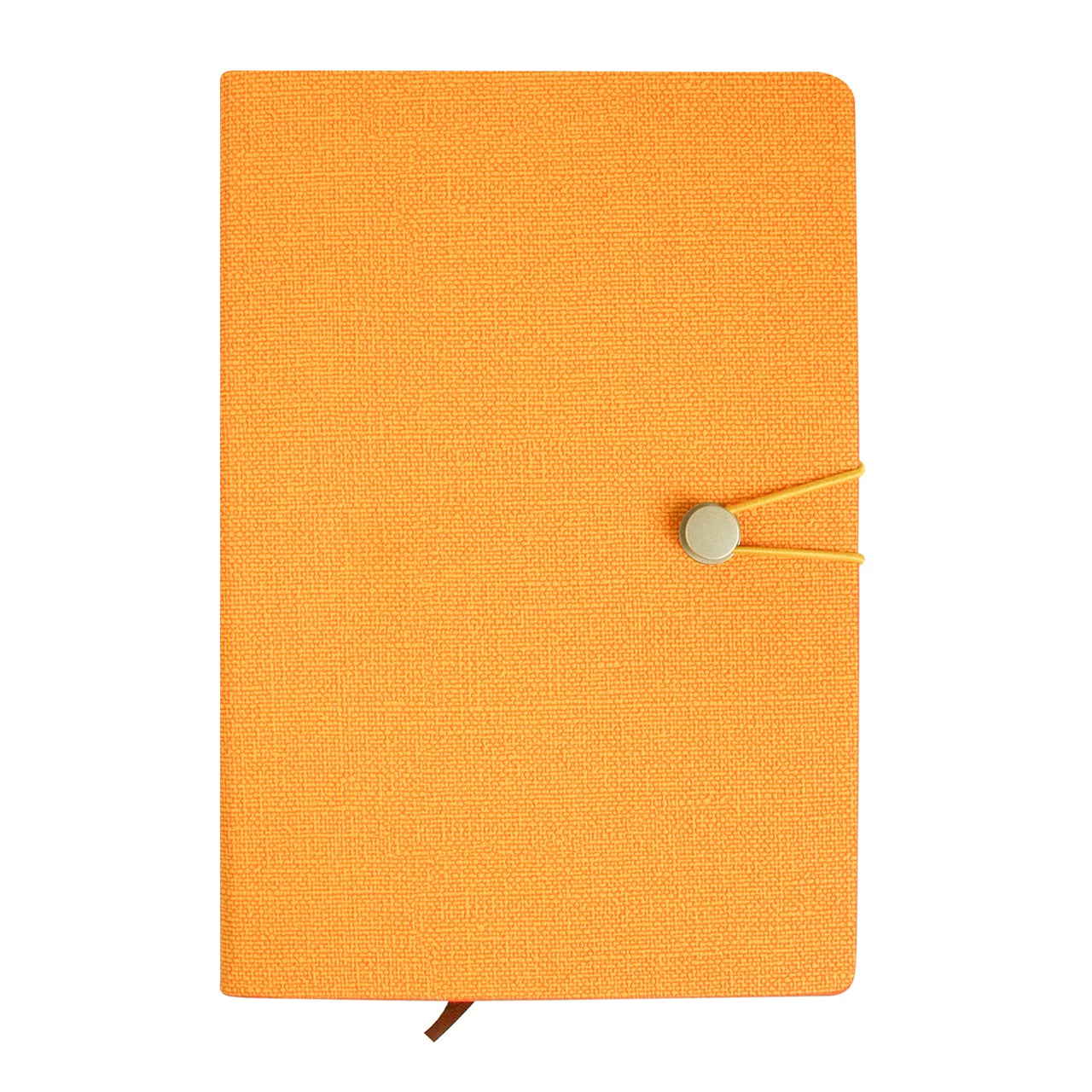 A5 PU Leather Hardbound Notebook - Orange - EMARTBUY