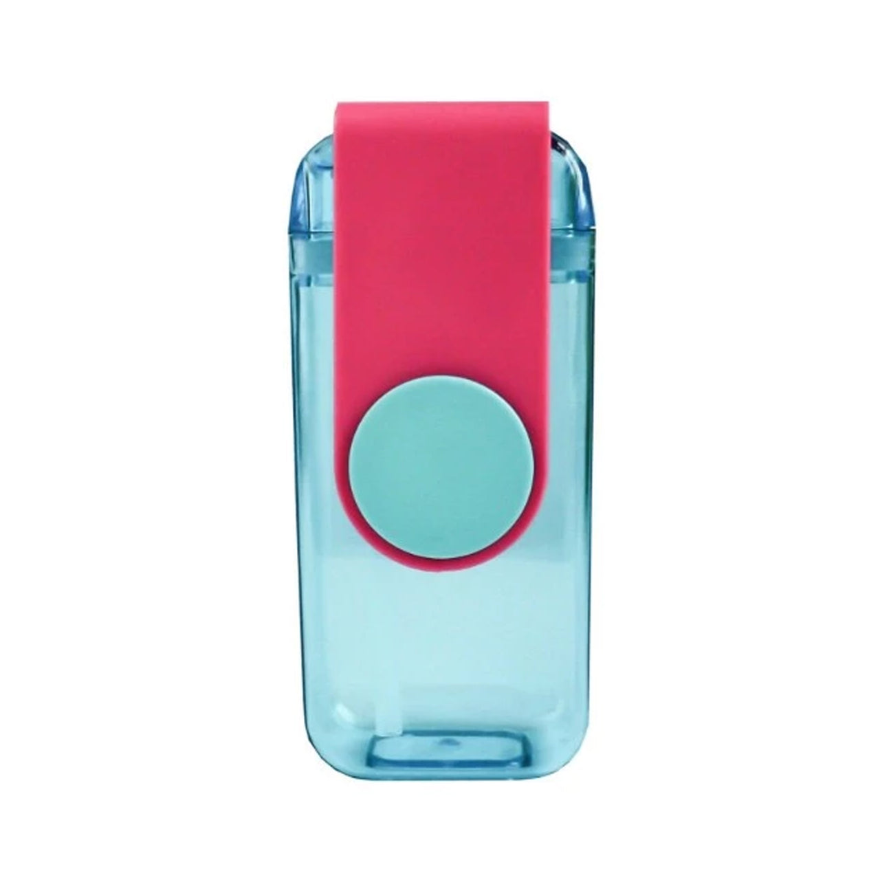 Water Bottle with Straw - Blue/Pink