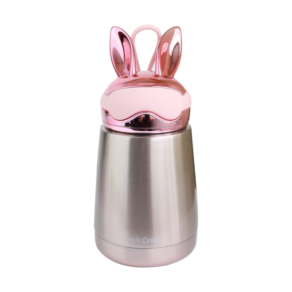 Metallic Rabbit Flask - Pink