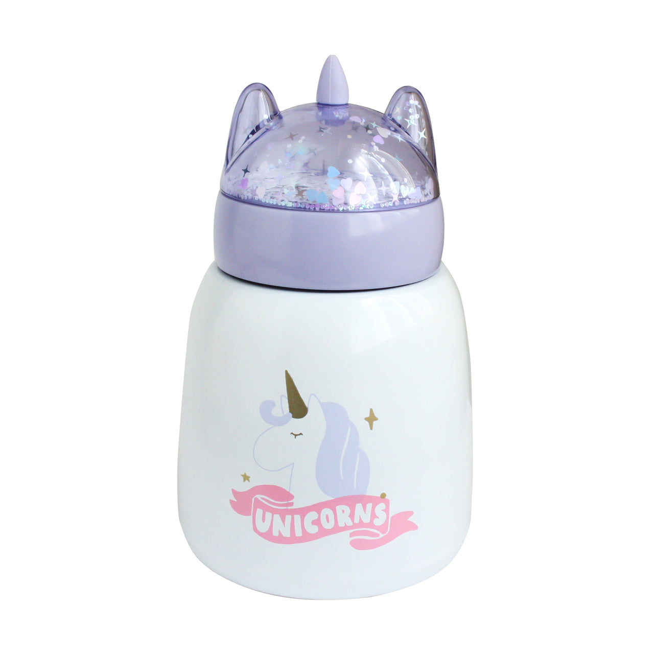 Shimmer Unicorn Food Flask - Purple