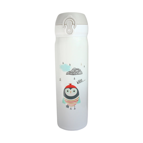 Owls Flask - White