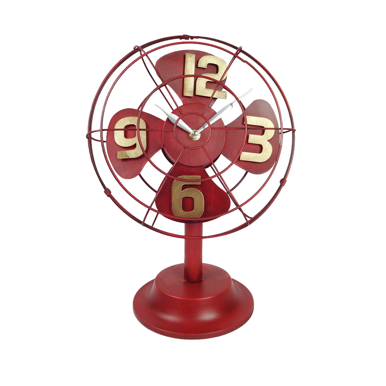 Fan Clock - Red