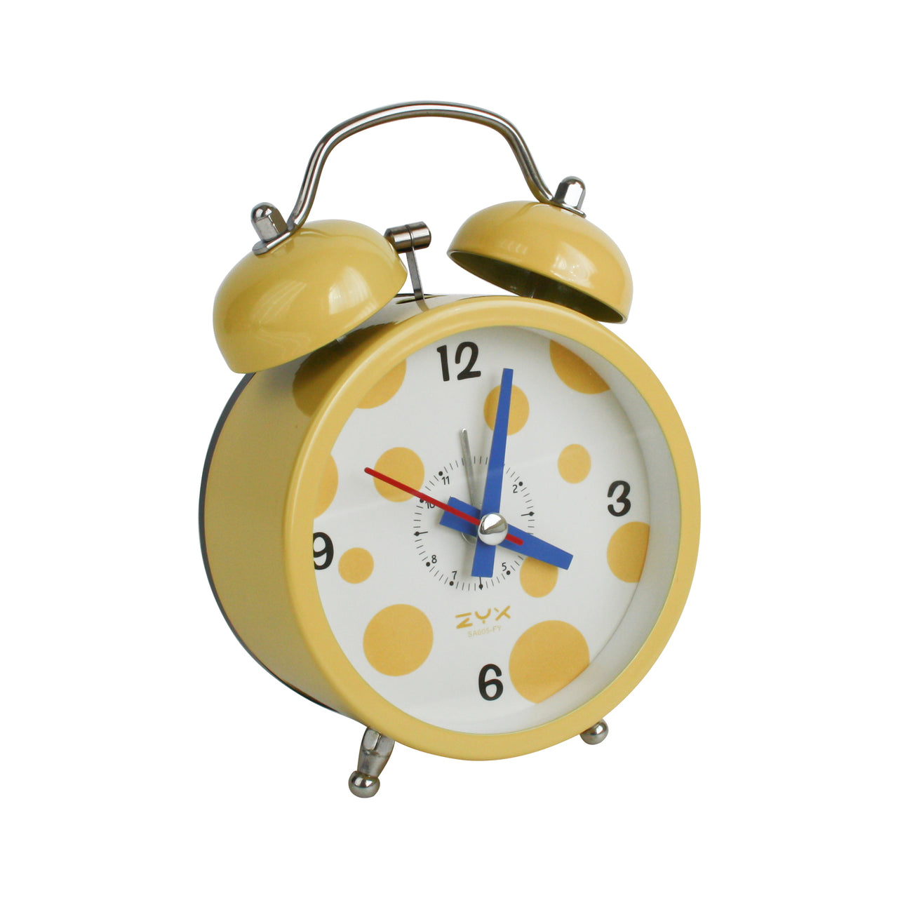 Polka Dots Alarm Clock - Yellow