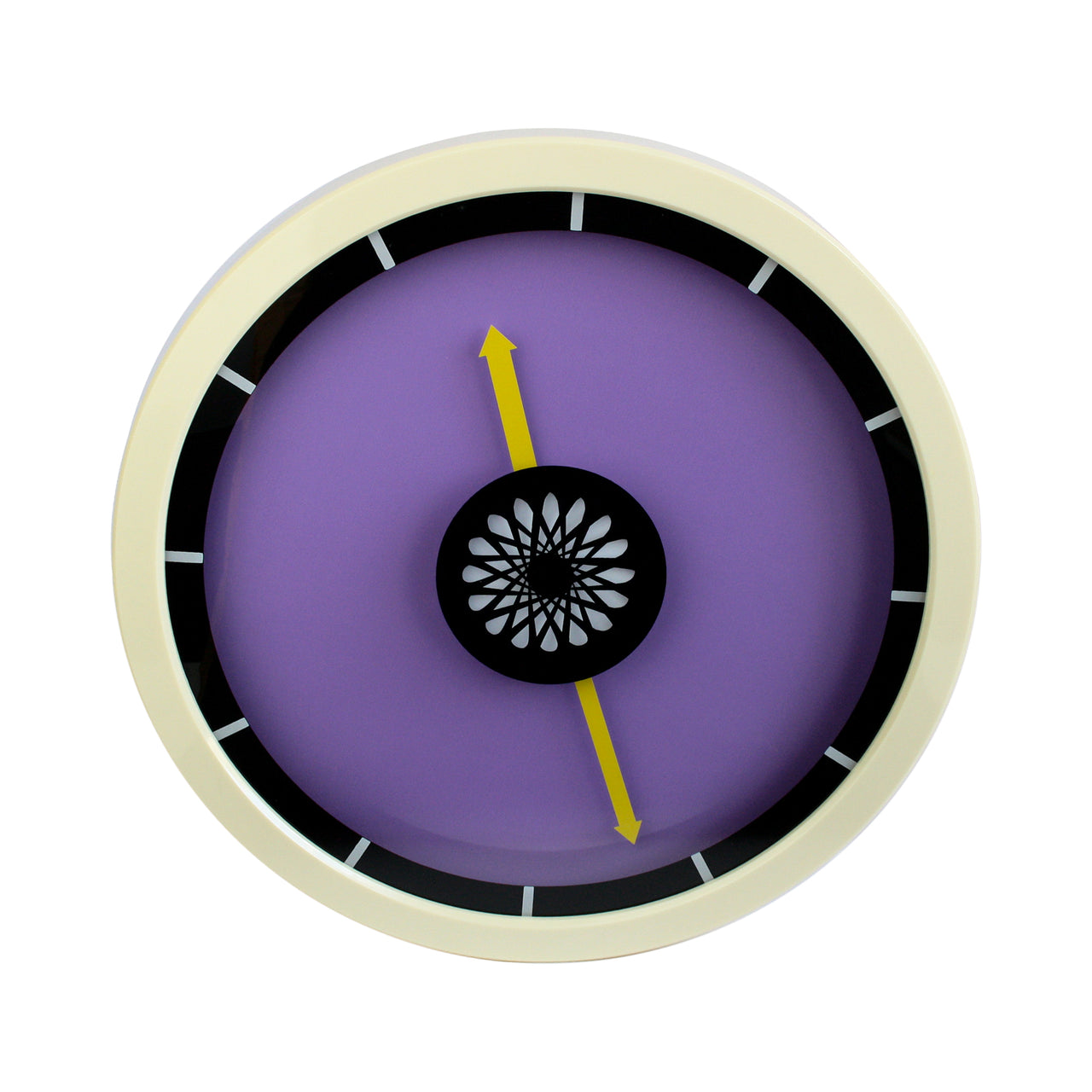 Colour Block Wall Clock - Purple