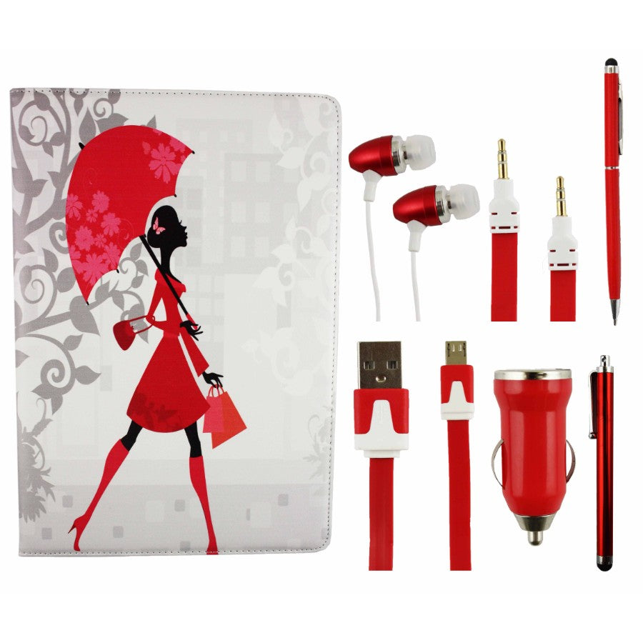 Tablet Accessory Bundle Pack - Elegant Lady