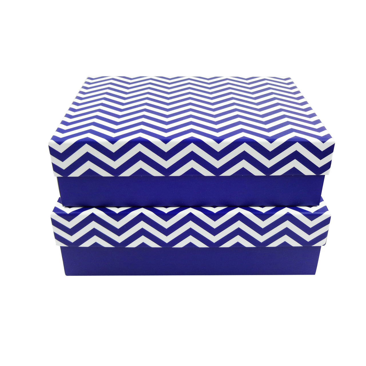 Blue Zigzag Gift Box - Set Of 2