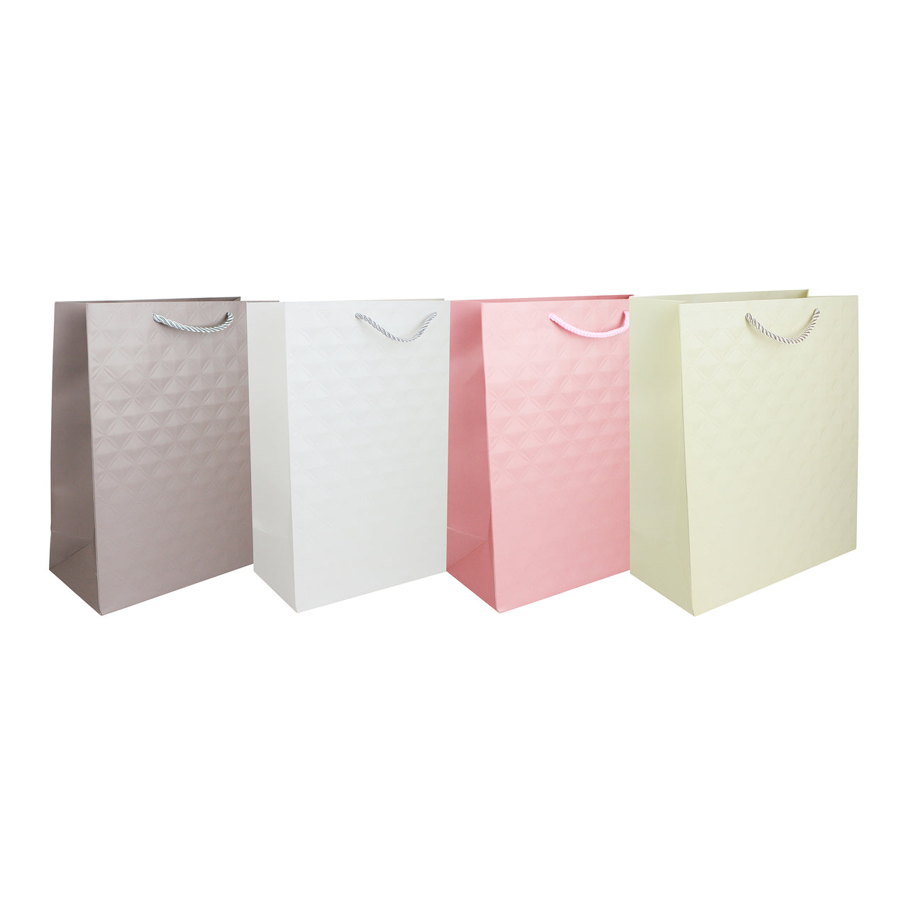 Pastel Embossed Gift Bag - Set of 4