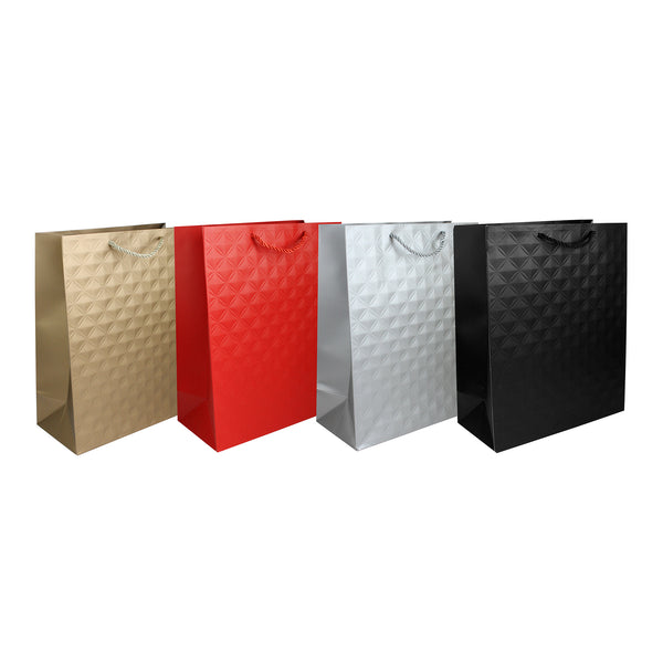 Embossed Gift Bag - Set of 4