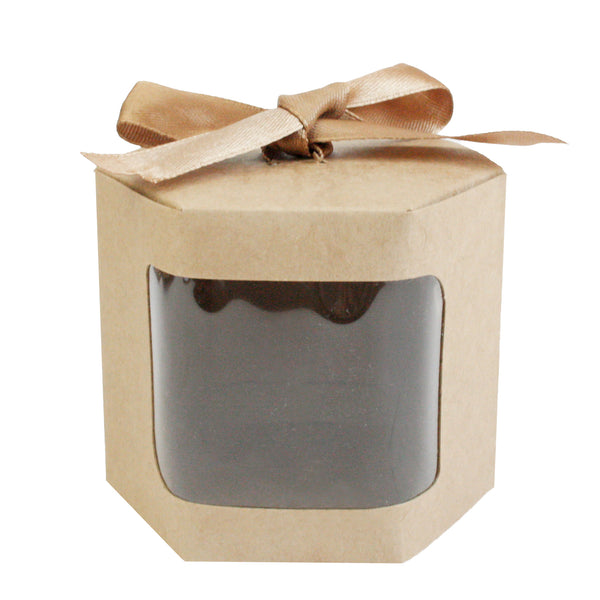 Brown Bow Hexagon Gift Bag - Pack of 12