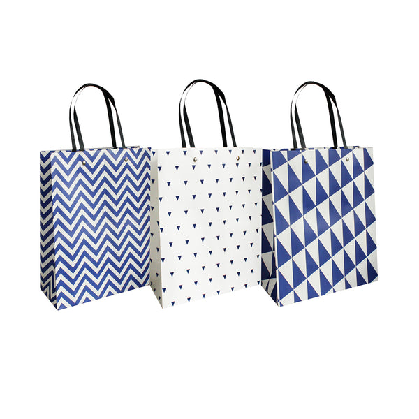 Triangles and Zigzags Gift Bag - Set of 3