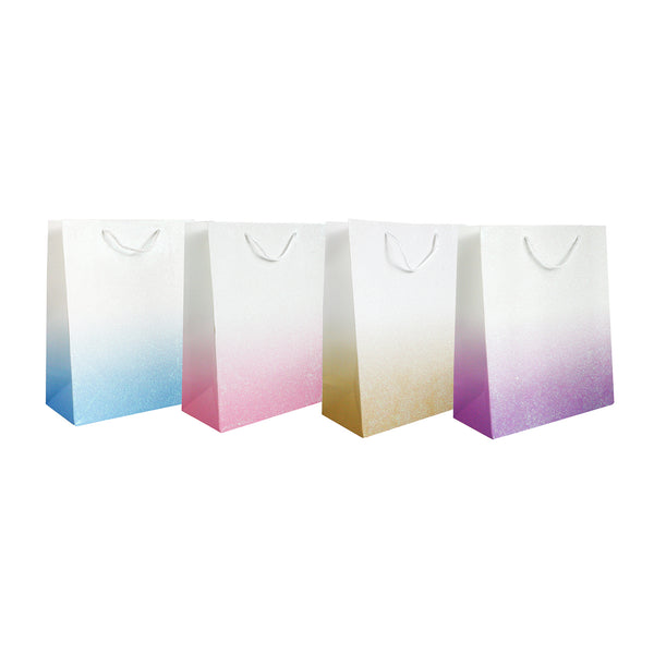 Glitter Pastel Shades Gift Bag - Set of 4