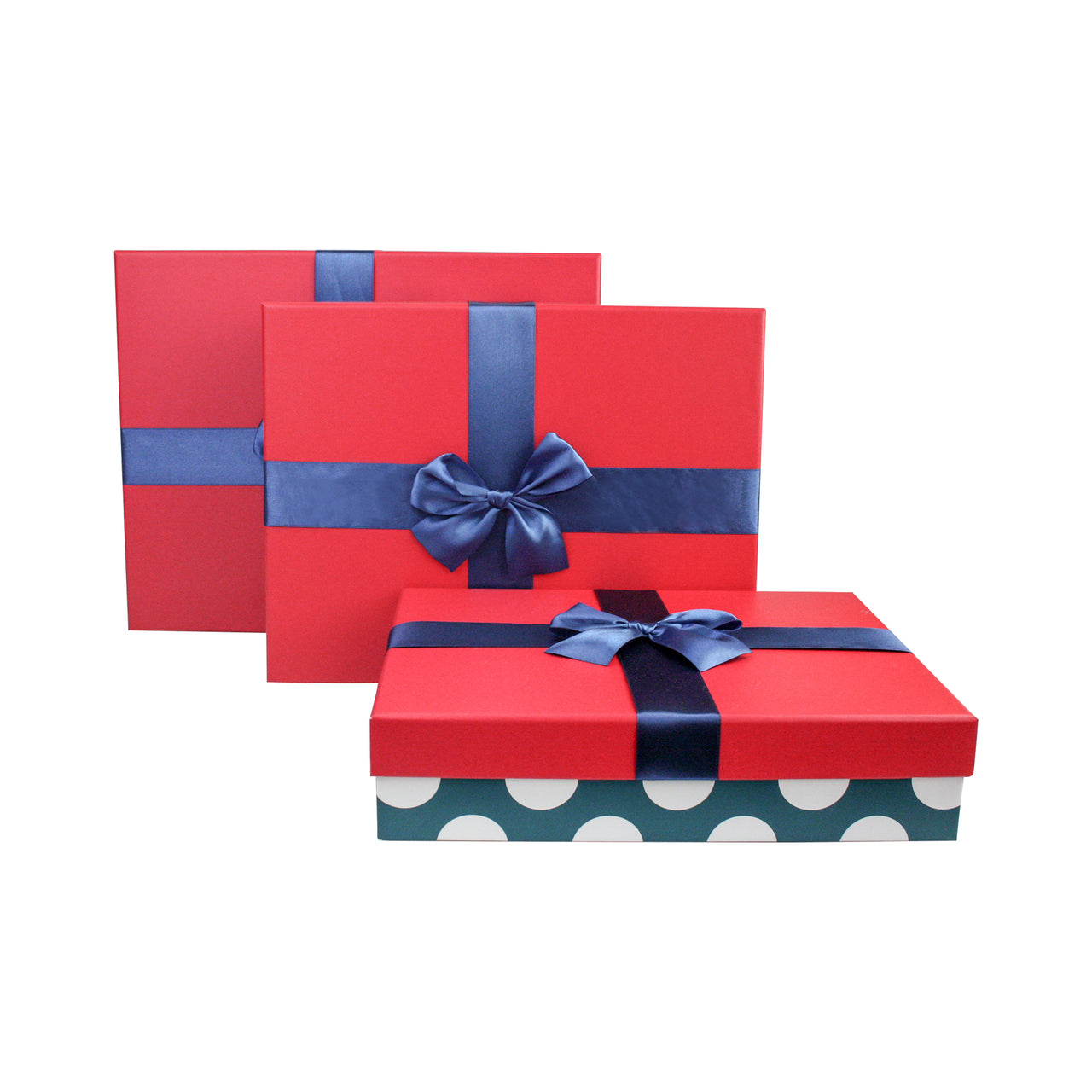 Blue Polka Gift Box - Set Of 3 - EMARTBUY