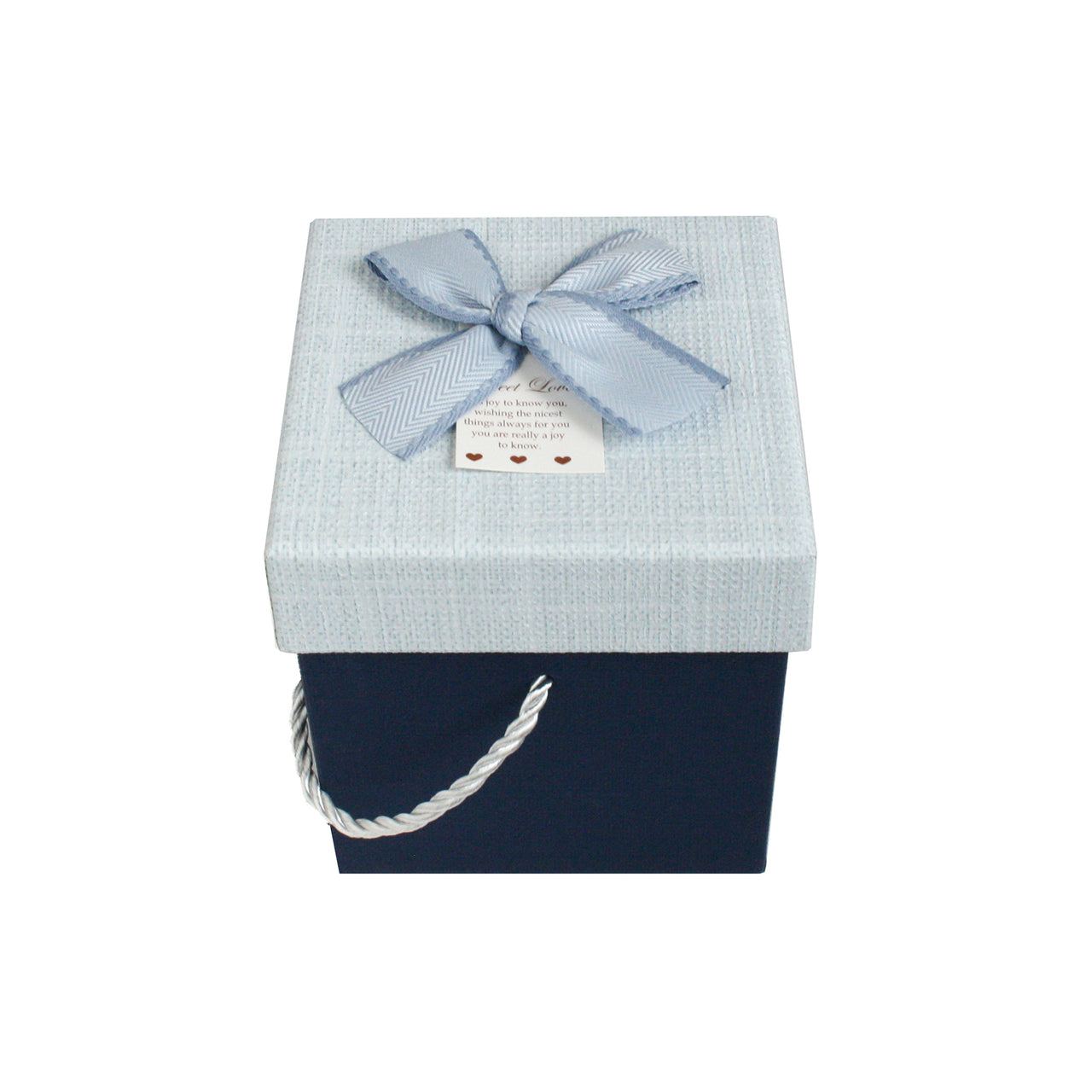 Small Blue Bow Gift Box