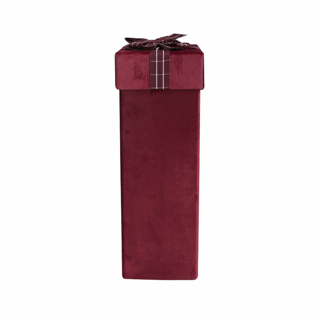 Burgundy Velvet Wine Gift Box