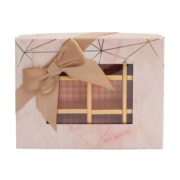 12 Compartment Marble Gift Box - Pink Pack of 3