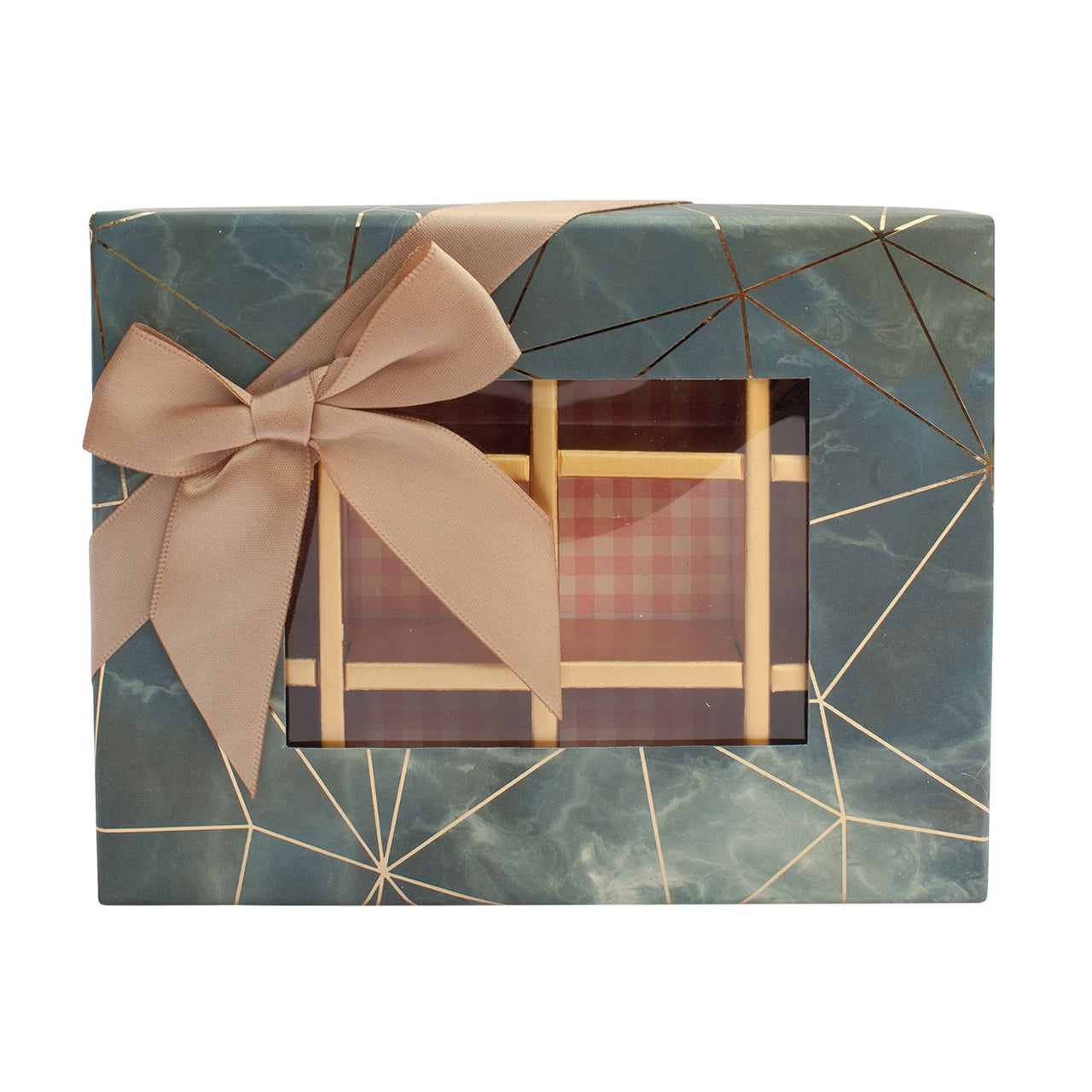 Grey Marble Print Gift Box - Pack of 3