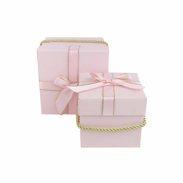 Pink Square Gift Box - Set of 2