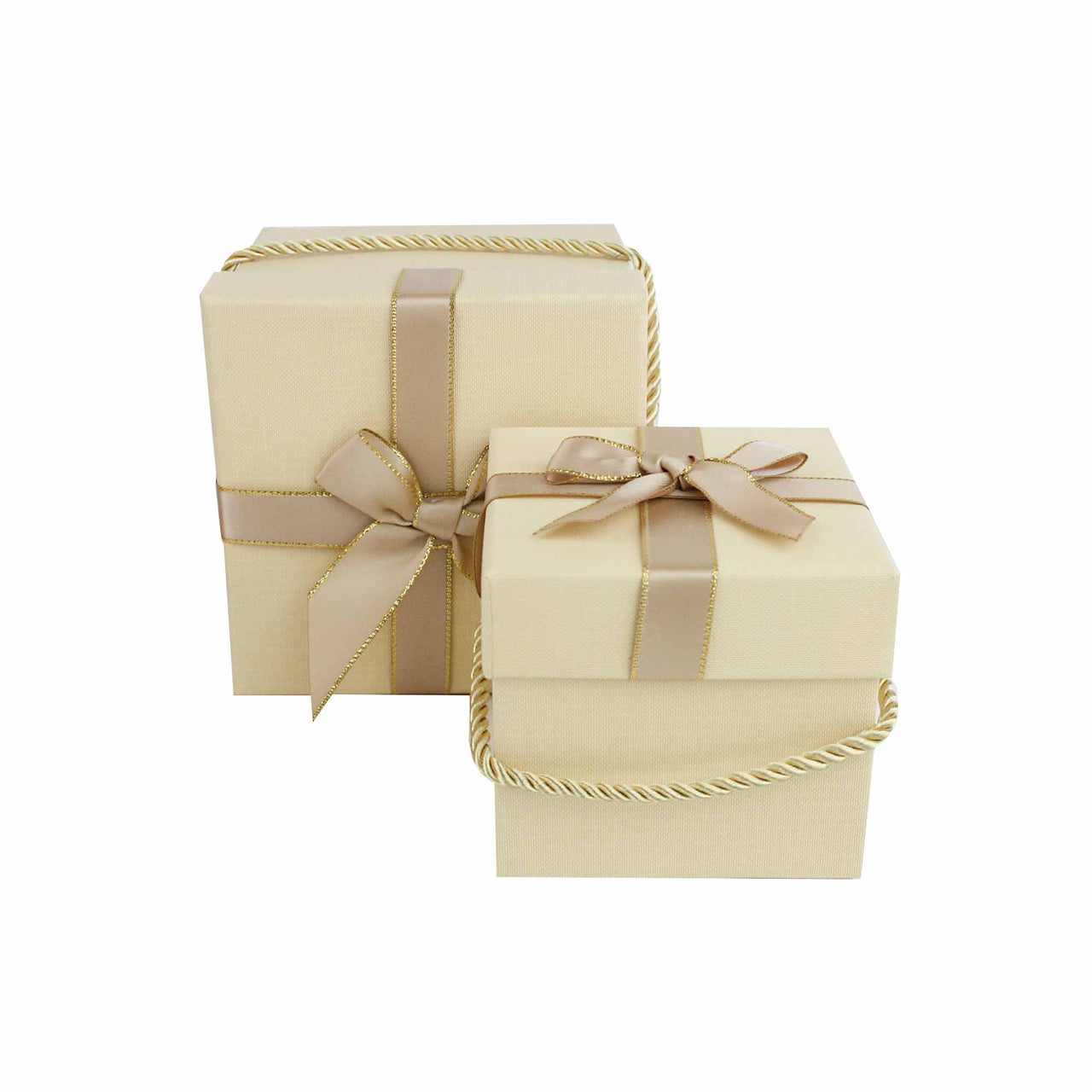 Beige Square Gift Box - Set of 2 - EMARTBUY