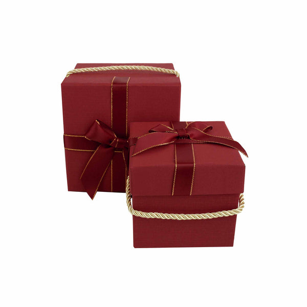 Red Square Gift Box - Set of 2