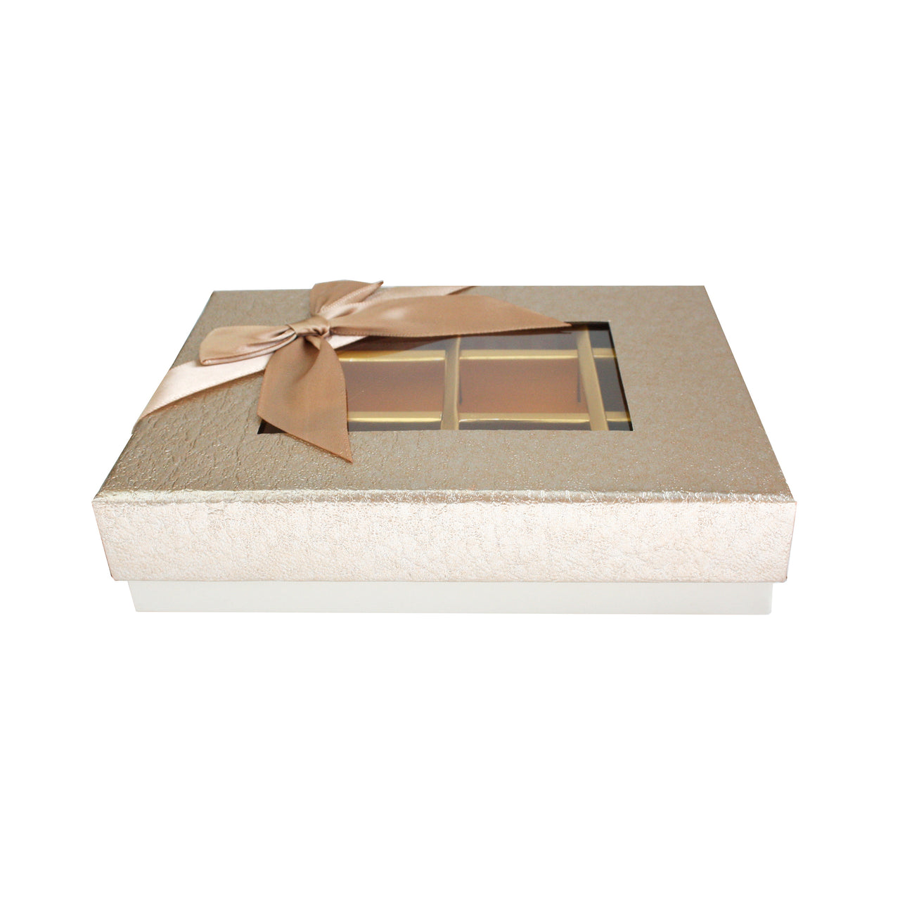 12 Compartment Metallic Gift Box - Gold