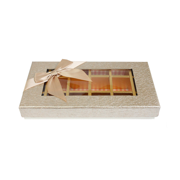 18 Compartment Metallic Gift Box - Gold