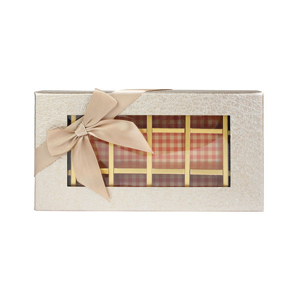 18 Compartment Metallic Gift Box - Gold Pack of 3