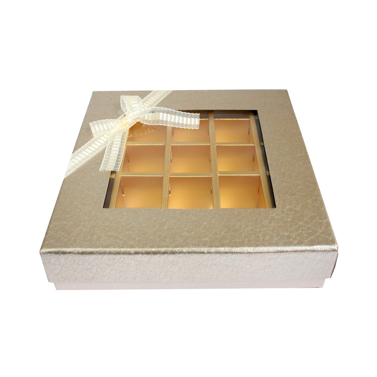 25 Compartment Metallic Gift Box - Gold