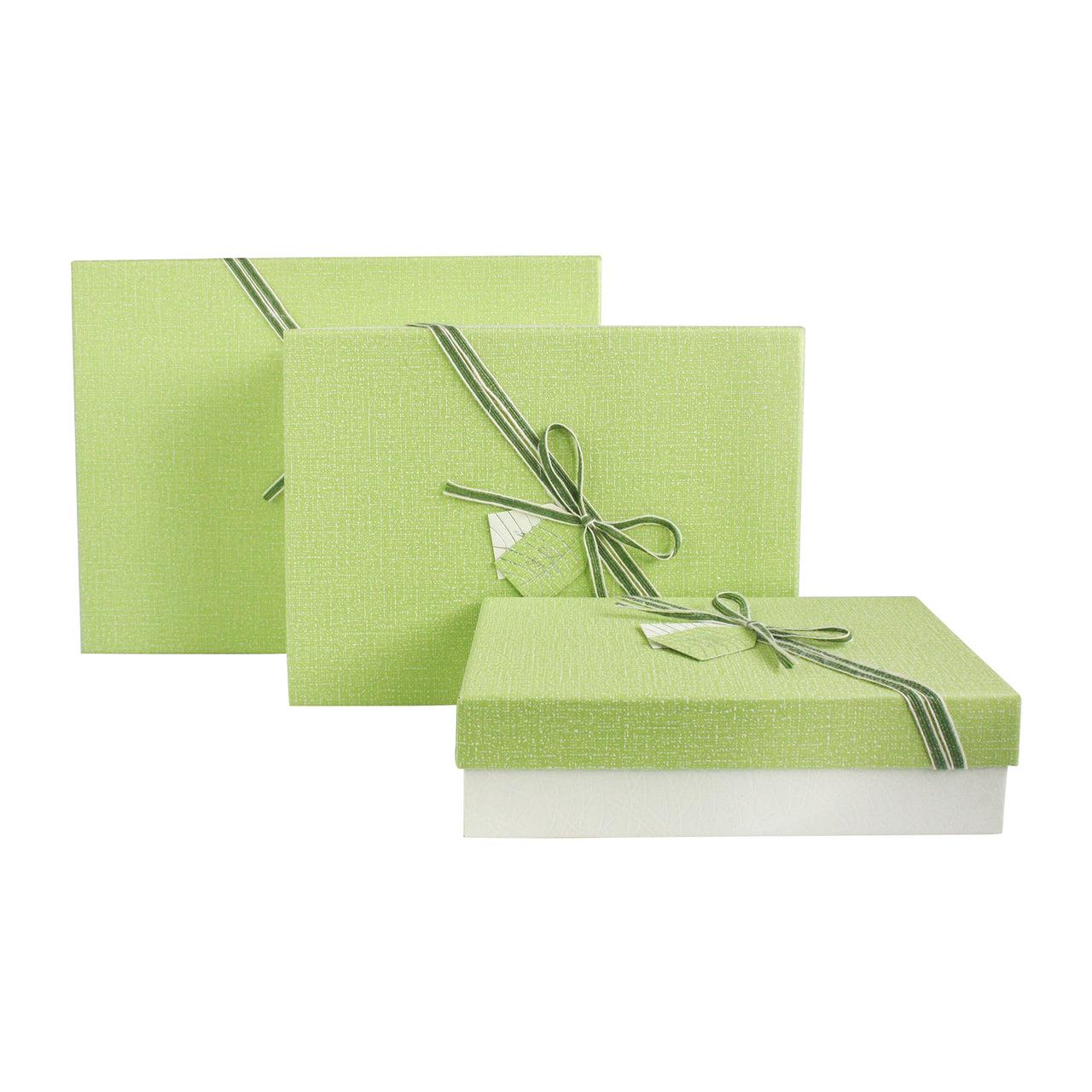 Cream Green Gift Box - Set Of 3