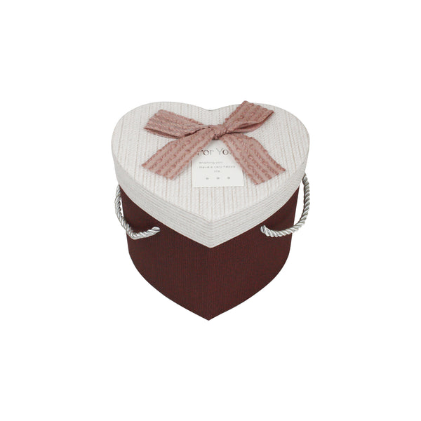 Maroon & Light Pink Heart Gift Box - Individual