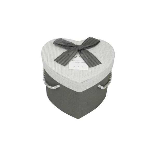 Grey & White Heart Gift Box - Individual