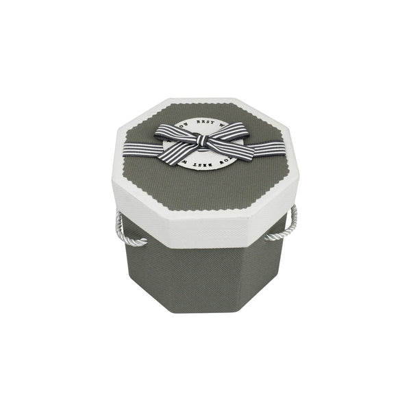 Grey & White Octagon Gift Box
